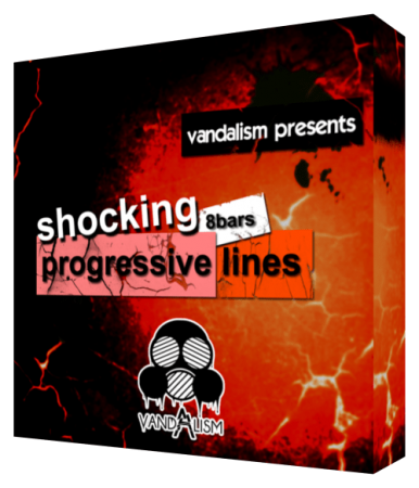 Vandalism Shocking 8bars Progressive Lines WAV MiDi