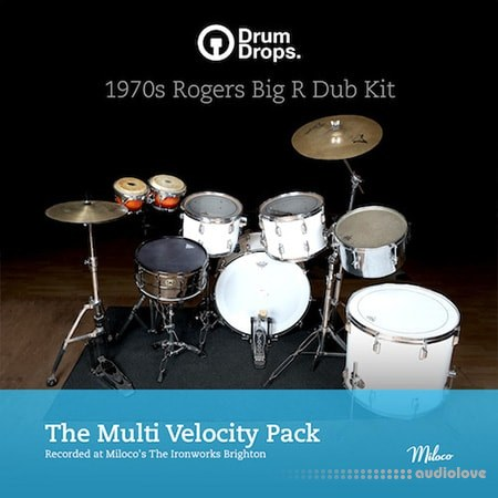 DrumDrops 1970's Roger's Big R Dub Kit Multi Velocity Pack MULTiFORMAT