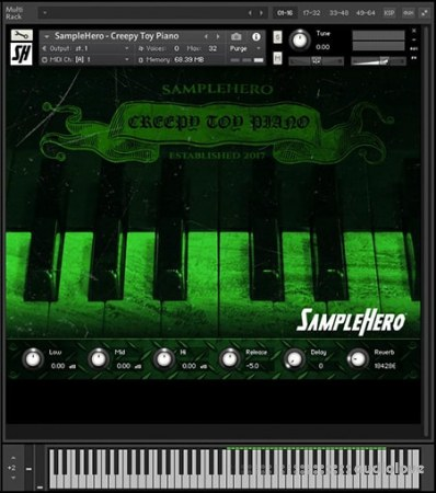 SampleHero Creepy Toy Piano KONTAKT