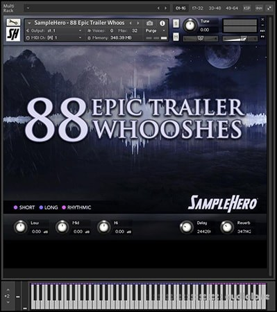SampleHero 88 Epic Trailer Whooshes KONTAKT