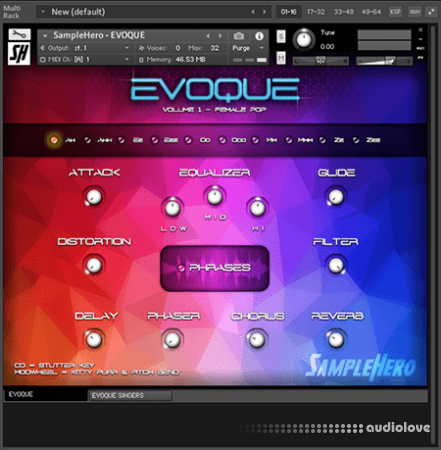 SampleHero EVOQUE Vocal Synth KONTAKT