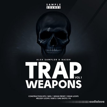Sample Sounds Trap Weapons Volume 1 WAV MiDi Synth Presets