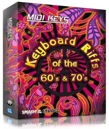 Smash up The studio Midi Keys Keyboard Riffs Of The 60s and 70s V1 MiDi
