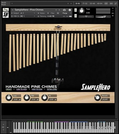 SampleHero Hand-Made Pinewood Chimes KONTAKT