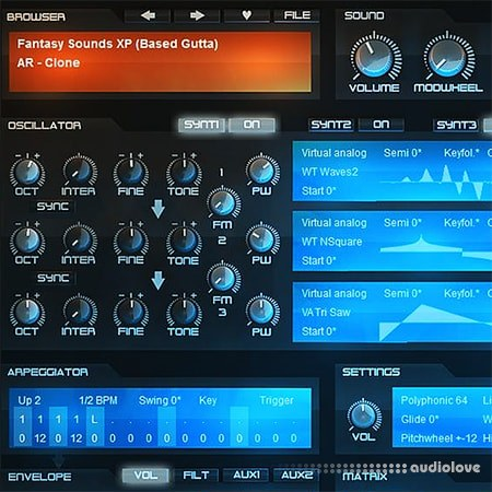 Based Gutta Fantasy Sounds XP Synth Presets