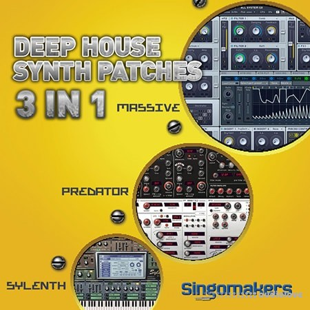 Singomakers Deep House Synth Patches 3 in 1 MULTiFORMAT Synth Presets