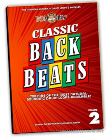 Beta Monkey Drum Loops Classic Backbeats II Vintage Rock Drum WAV REX AiFF