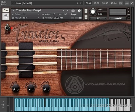 Angel Cano Traveler Bass v1.12 KONTAKT