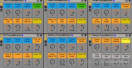 Sonic State Freeze Machines v1.01 Frozen Reverb Instrument Racks For Live