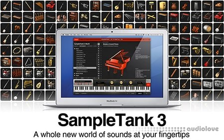 IK Multimedia SampleTank 3 Sound Content HYBRID 8 DVD + Sound Updater v3.5 WiN MacOSX