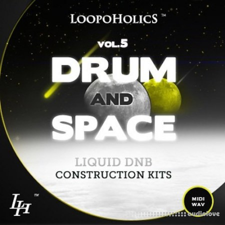 Loopoholics Drum and Space Vol.5 Liquid DnB Construction Kits WAV MiDi