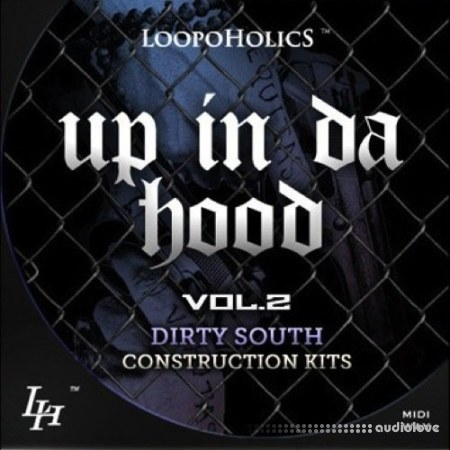 Loopoholics Up In Da Hood Vol.2 Dirty South Construction Kits WAV MiDi