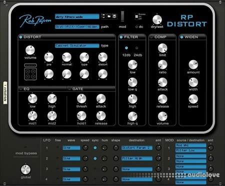 Rob Papen RP-Distort v1.0.1g MacOSX
