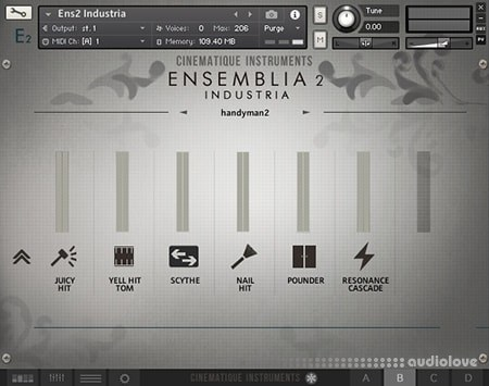 Cinematique Instruments Ensemblia 2 Industria KONTAKT