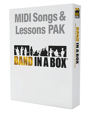 PG Music MIDI Songs and Lesson PAK for Band-in-a-Box WiN MacOSX