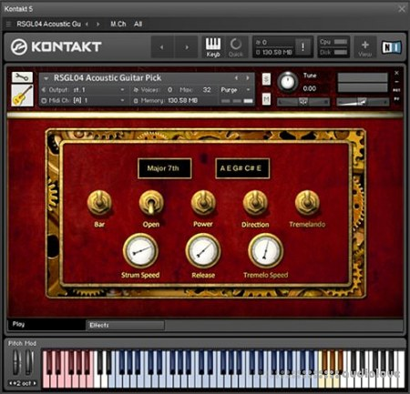 Replika Sound Steel String Acoustic Guitar KONTAKT