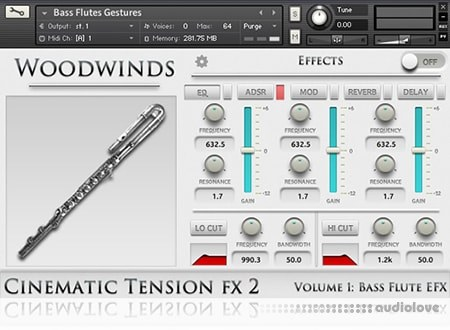 Cinematic Tension FX2 Vol.1 Bass Flutes KONTAKT