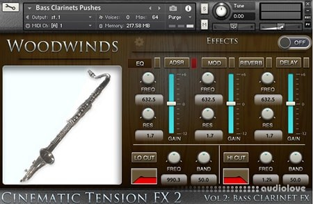 Cacophony Inc Cinematic Tension FX2 Vol.2 Bass Clarinets KONTAKT