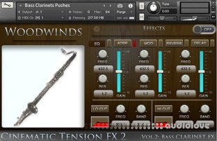 Cacophony Inc Cinematic Tension FX2 Vol.2 Bass Clarinets