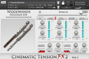 Cacophony Inc Cinematic Tension FX 2 Vol.3 Piccolos