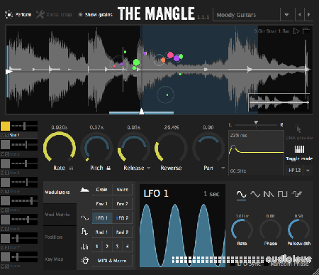 The Mangle Granular Synth/Sampler WiN MacOSX