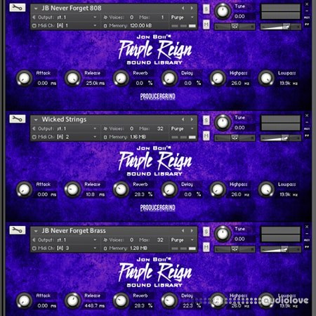 Producer Grind The Official Purple Reign KONTAKT