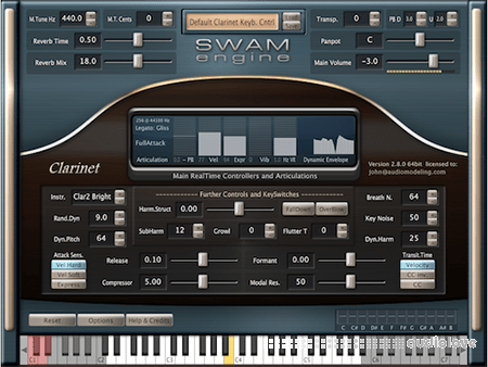 Audio Modelling SWAM engine SWAM Clarinets v2.8.1 CE WiN
