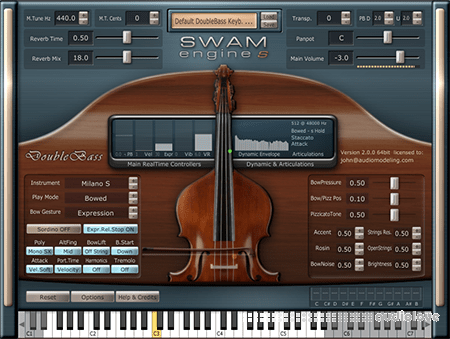 Audio Modelling SWAM Engine Double Bass v2.0.1 CE WiN
