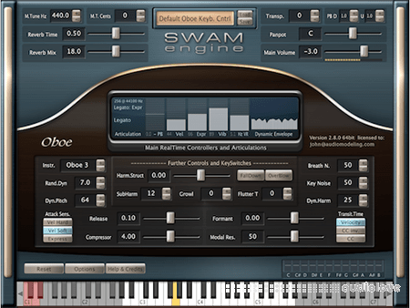 Audio Modelling SWAM Engine SWAM Double Reeds v2.8.1 CE WiN