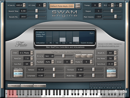Audio Modelling SWAM Engine SWAM Flutes v2.8.1 CE WiN