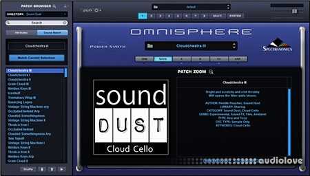 sound DUST Cloud Cello Omni 2 Edition Synth Presets