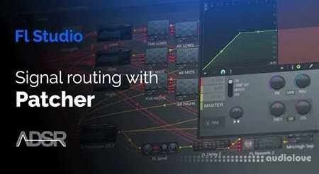 ADSR Sounds Signal Routing With Patcher Multiband Compression EQ Reverb and Stereo Separation TUTORiAL