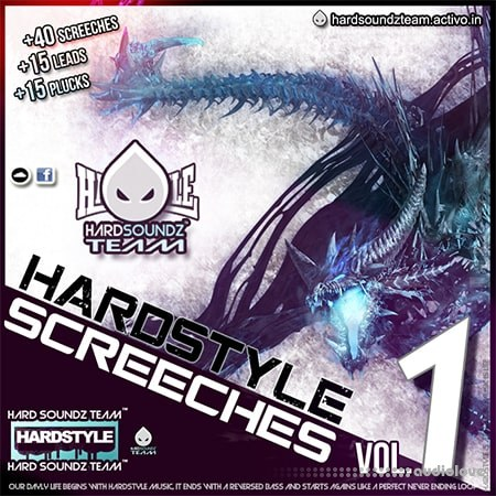 Hard Soundz Team Hardstyle Screeches Vol. 1 MiDi Synth Presets DAW Templates