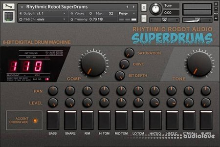 Rhythmic Robot Audio SuperDrums