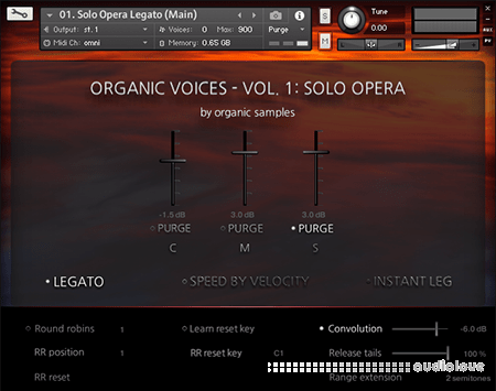 Organic Samples Organic Voices Volume 1 Solo Opera KONTAKT