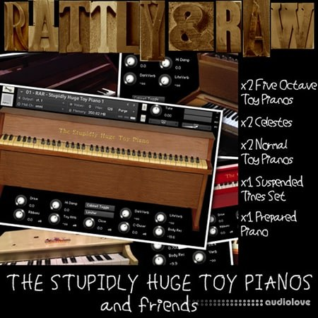 Rattly And Raw The Stupidly Huge Toy Pianos And Friends KONTAKT