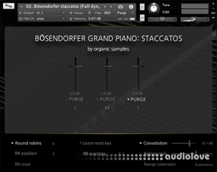 Organic Samples Boesendorfer Grand Piano Staccatos