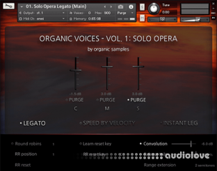 Organic Samples Organic Voices Volume 1 Solo Opera