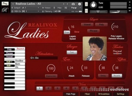 RealiTone Realivox The Ladies KONTAKT