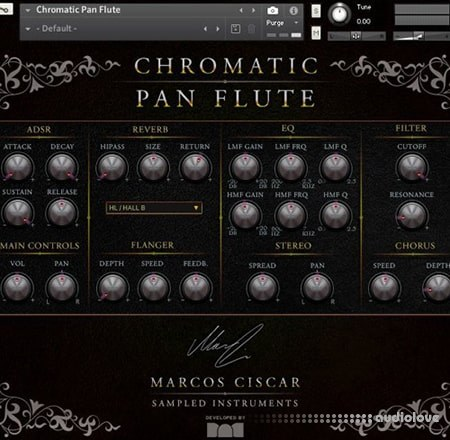 Marcos Ciscar Chromatic Pan Flute KONTAKT