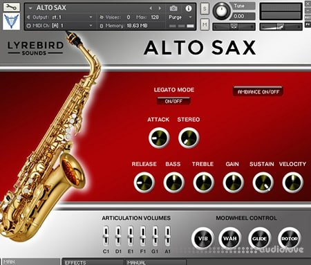 Lyrebird Sounds Alto Sax KONTAKT