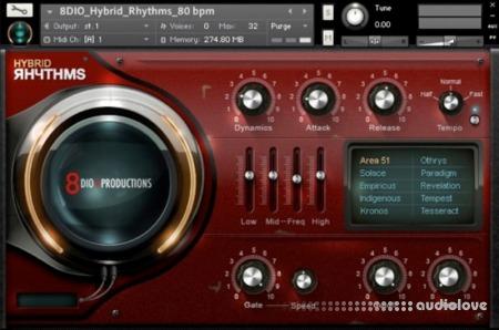 8Dio Hybrid Rhythms KONTAKT