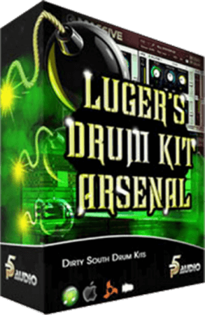 P5 Audio Lugers Dirty South Drum Kit Arsenal MULTiFORMAT