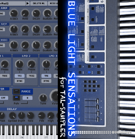 GPR Music Project Blue Light Sensations TAL-Sampler