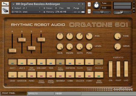 Rhythmic Robot Audio OrgaTone 601 KONTAKT