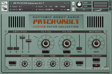 Rhythmic Robot Audio PatchVault DX5 Custom Set 1 KONTAKT