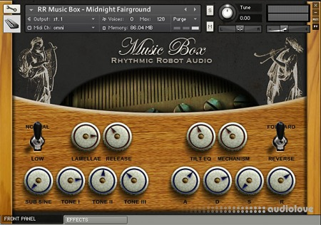 Rhythmic Robot Audio Music Box KONTAKT