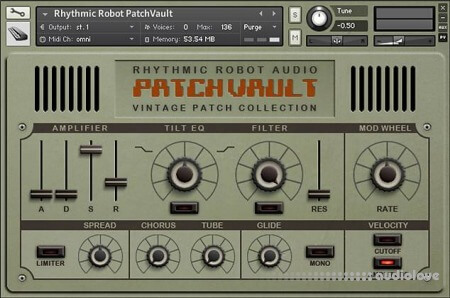 Rhythmic Robot Audio PatchVault Poly6 Factory Set A KONTAKT