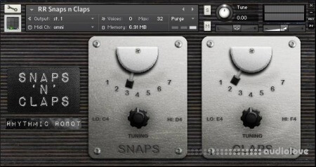 Rhythmic Robot Audio Snarps N Claps KONTAKT