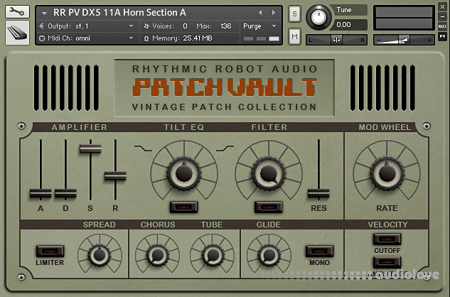 Rhythmic Robot Audio PatchVault DX5 Factory Set A KONTAKT